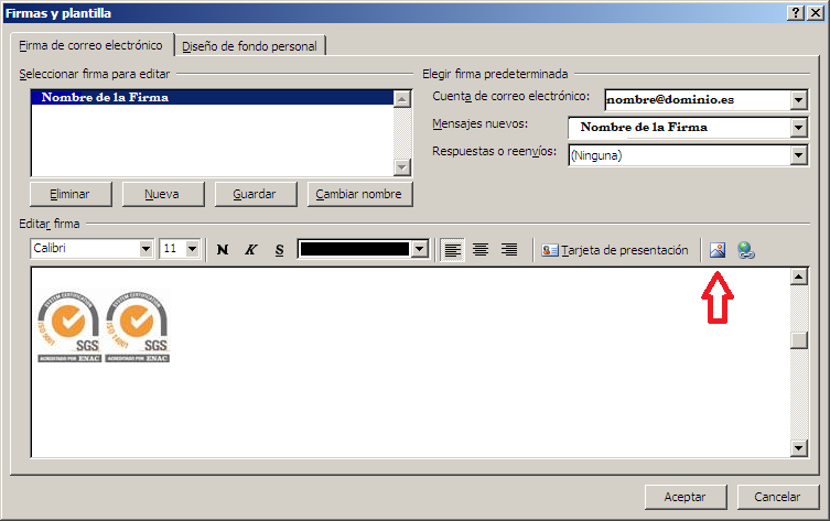 Firma email Outlook 2007 (3)