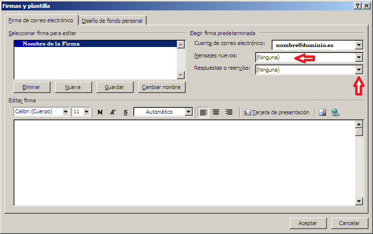 Firma email Outlook 2007 (4)