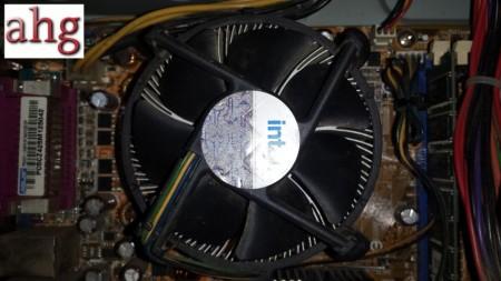 AHG-Disipador y ventilador limpio