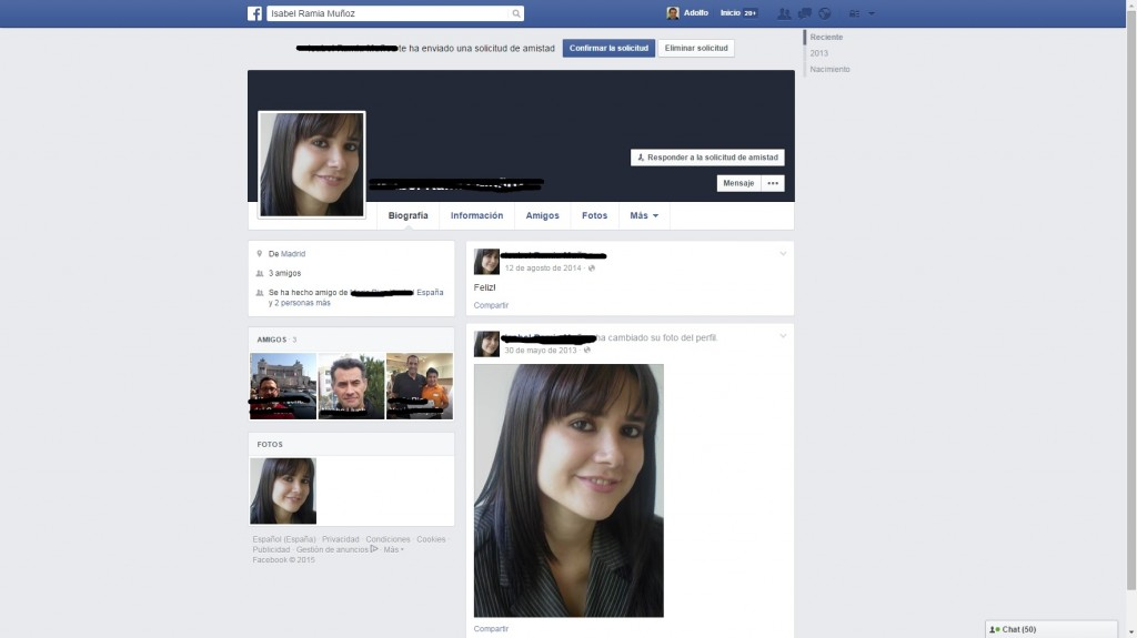 Detectar perfil falso en Facebook